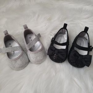 Set of Baby Girl Sequence Shoes
